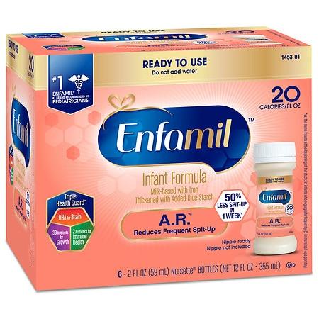 Enfamil Ready To Use A.R. Infant Formula - 2 fl oz x 6 pack