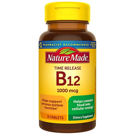Nature Made Vitamin B-12 1000 mcg Dietary Supplement Tablets - 75 ea