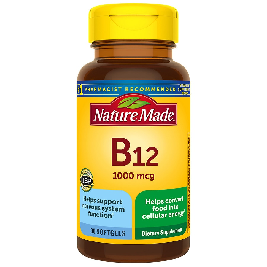 Vitamin B Walgreens Nutrimax Complex 30 Tablet Nature Made 12 1000 Mcg Dietary Supplement Liquid Softgels