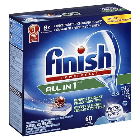 Finish All-in-One Dishwasher Detergent Powerball Tablets Fresh Scent