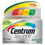 Centrum Silver Adult Age 50+, Complete Multivitamin/ Multimineral  Supplement Tablet