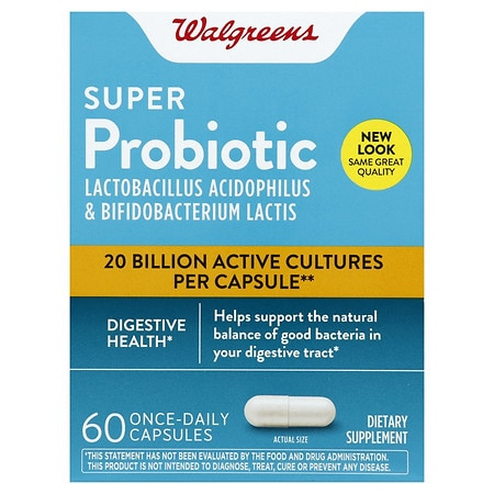 Walgreens Super Probiotic Digestive Support Capsules - 60 ea ShopFest Money Saver