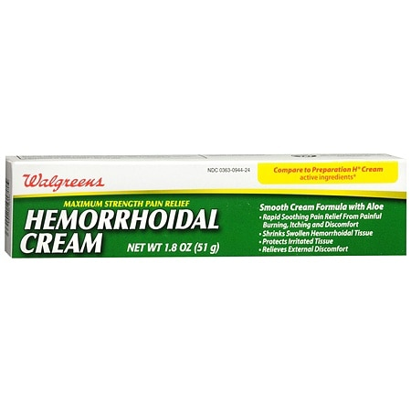 Walgreens Hemorrhoidal Pain Relief Cream - 1.8 oz.