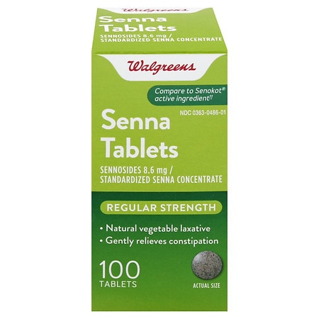 Walgreens Senna Natural Vegetable Laxative Tablets - 100 ea
