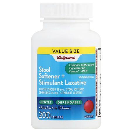 Walgreens Stool Softener Plus Laxative Tablets - 200 ea