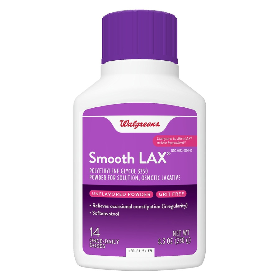 Walgreens Smooth LAX Laxative Powder (PEG 3350) 14 Day