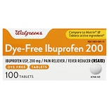 Walgreens Ibuprofen 200 mg Tablets Color Free & Dye Free
