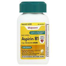 Walgreens Aspirin Low Dose 81 Mg Enteric Coated Tablets Walgreens