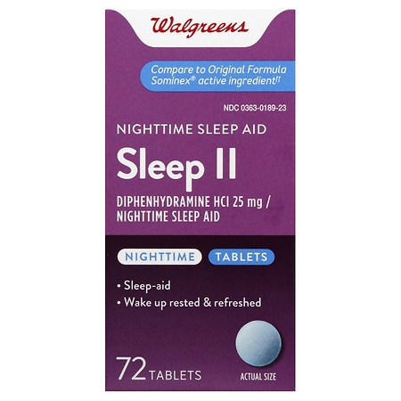 Walgreens Sleep II Nighttime Sleep-Aid Tablets
