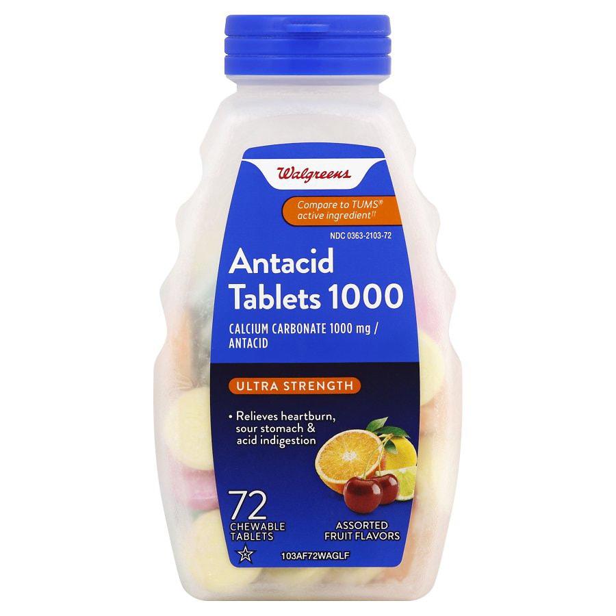 Antacid calcium supplement