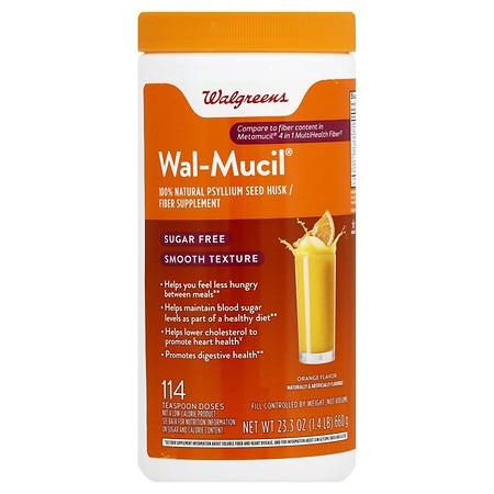 Walgreens Wal-Mucil Bulk Forming Laxative/Fiber Supplement Powder Smooth Texture Sugar Fre