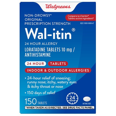 Walgreens Wal-Itin Non-Drowsy 24 Hour Allergy Tablets