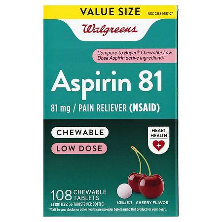 Outstanding Walgreens Low Dose Aspirin 81 Mg Chewable Tablets Cherry Spiritservingveterans Wood Chair Design Ideas Spiritservingveteransorg