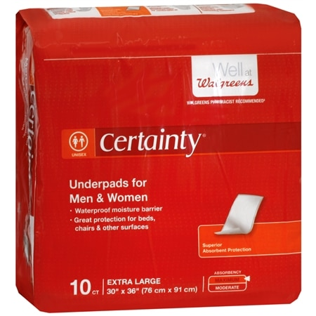 Walgreens Certainty Underpads, Super Plus Absorbency Extra Large