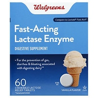 120CT WalgreensLactose Fast Acting Relief Chewable Tablets