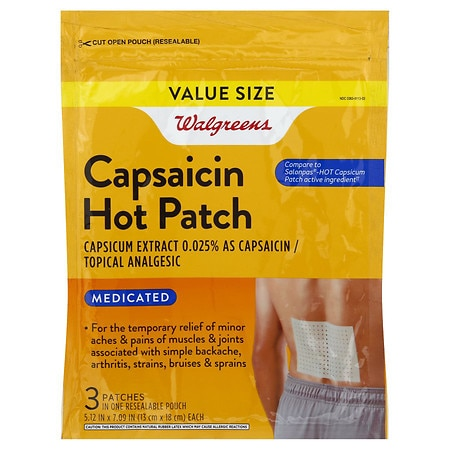Walgreens Capsaicin Hot Patches Topical Analgesic - 3 ea
