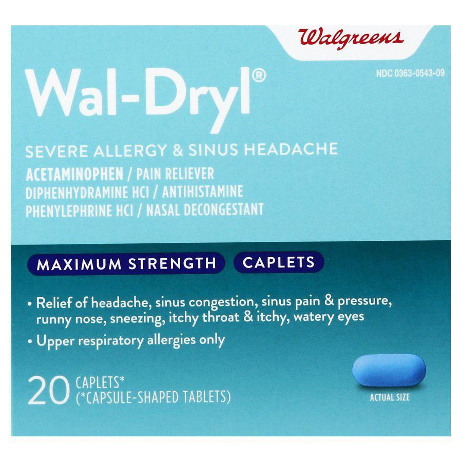Walgreens Wal-Dryl Severe Allergy & Sinus Headache, Caplets