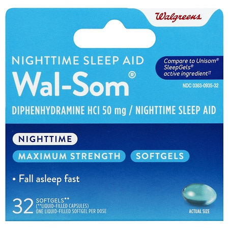 Walgreens Wal-Som Nighttime Sleep Aid Softgels