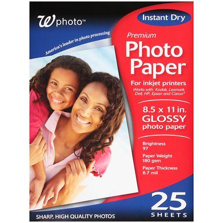 Walgreens Premium Photo Paper 8.5 x 11 in Glossy - 25 ea