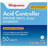 Walgreens Walgreens Acid Controller and Acid Reducer Tablets Maximum Strength