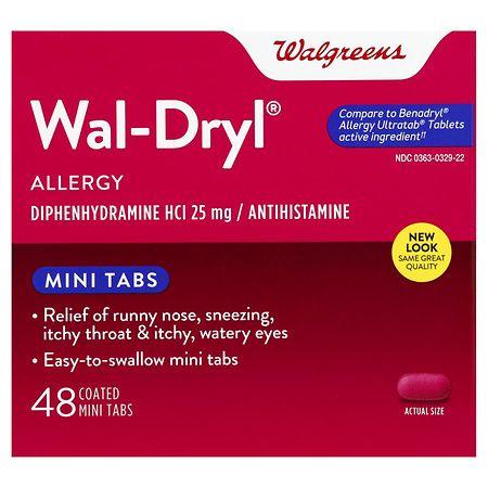 Walgreens Wal-Dryl Allergy Relief, Coated Mini Tabs