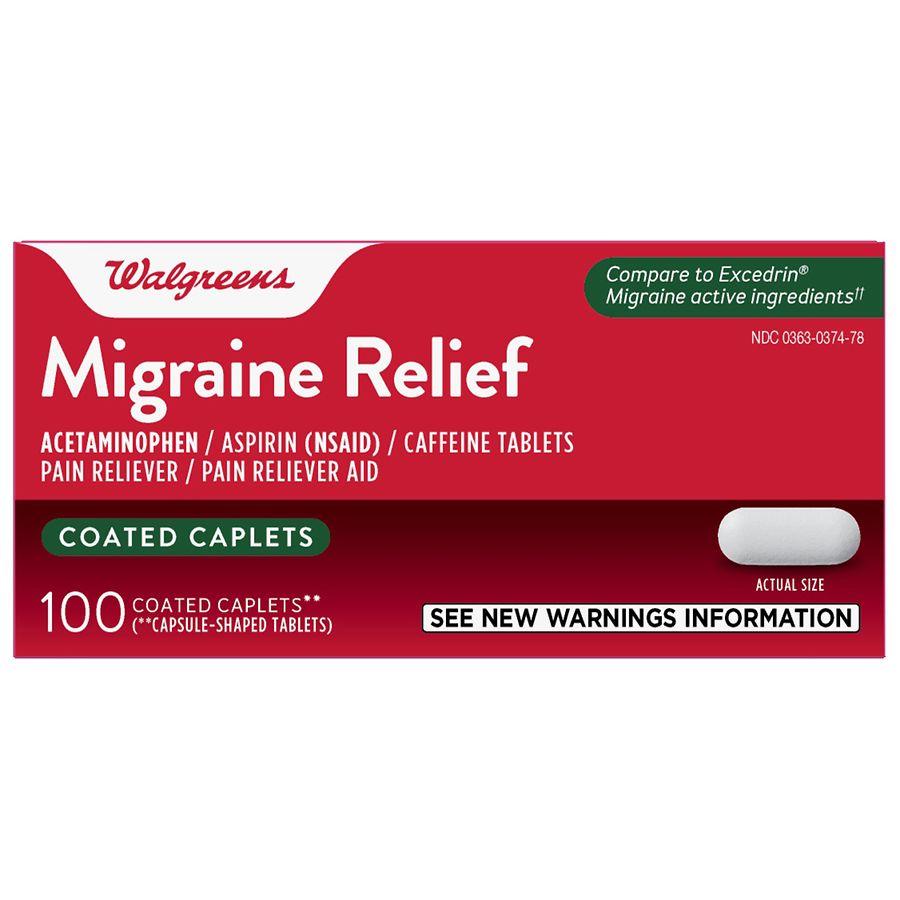 Walgreens Migraine Relief Caplets Walgreens