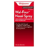 Well at Walgreens Wal-Four Nasal Decongestant Spray