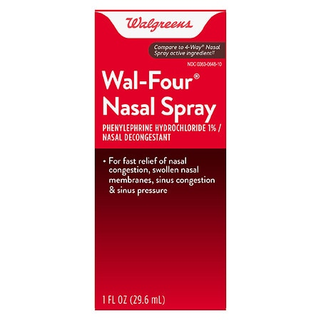 Walgreens Wal Four Nasal Decongestant Spray