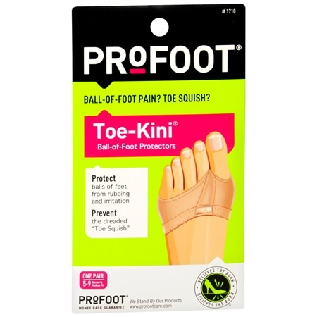 ProFoot Toe-Kini Ball-of-Foot Protectors 5-9 - 1 pr