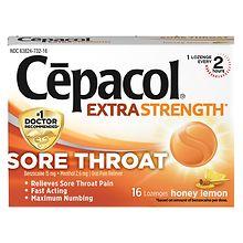 Cepacol Sore Throat Pain Relief Lozenges Honey Lemon | Walgreens