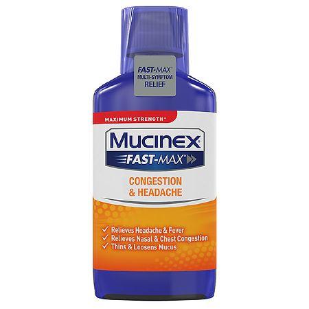 Mucinex Fast-Max Cold & Sinus Liquid - 6 fl oz