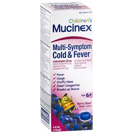 Mucinex Children's Multi-Symptom Cold & Fever Liquid Berry