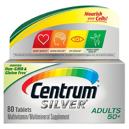Image of Centrum Silver Adult Age 50+, Complete MultivitaminMultimineral Supplement Tablet - 80 ea