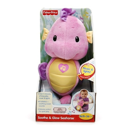 Fisher-Price Soothe & Glow Seahorse, Ages 0-36 months, Pink - 1 ea