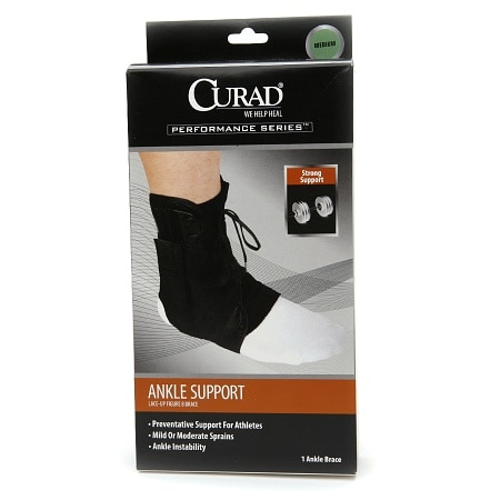 Curad Ankle Splint, Lace-Up, Figure 8 - 1 ea