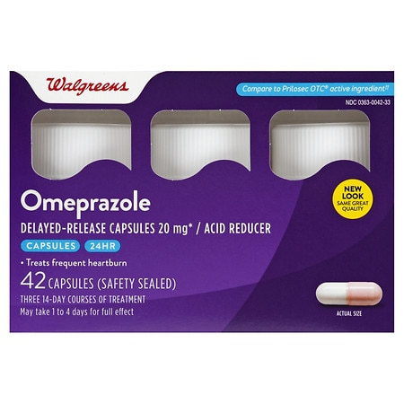 Walgreens Omeprazole Delayed Release Acid Reducer Capsules - 42 ea