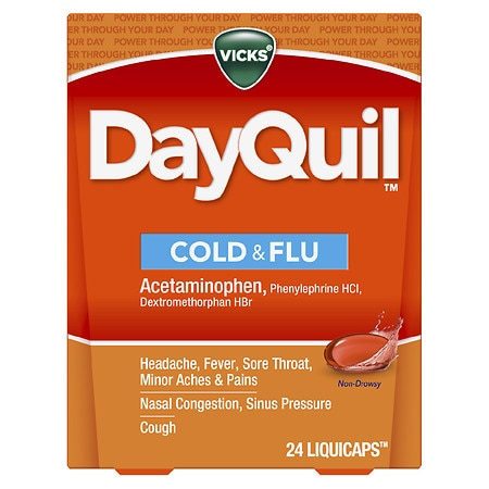 Vicks Dayquil Cold & Flu Relief LiquiCaps - 24 ea