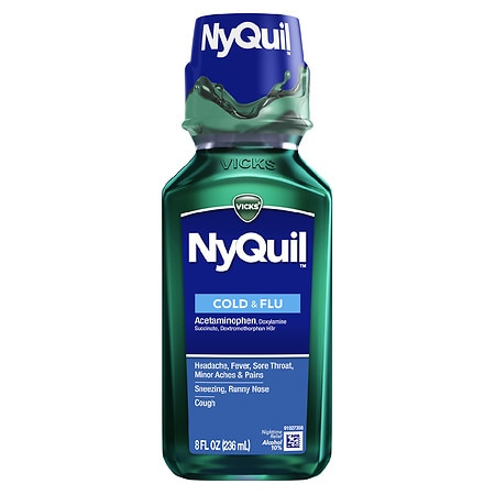 Vicks Nyquil NyQuil Cold & Flu Nighttime Relief Original Flavor - 8 oz.