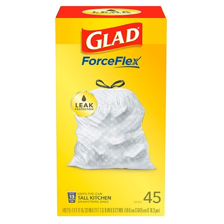Glad Tall Kitchen Drawstring Trash Bags 13 Gallon