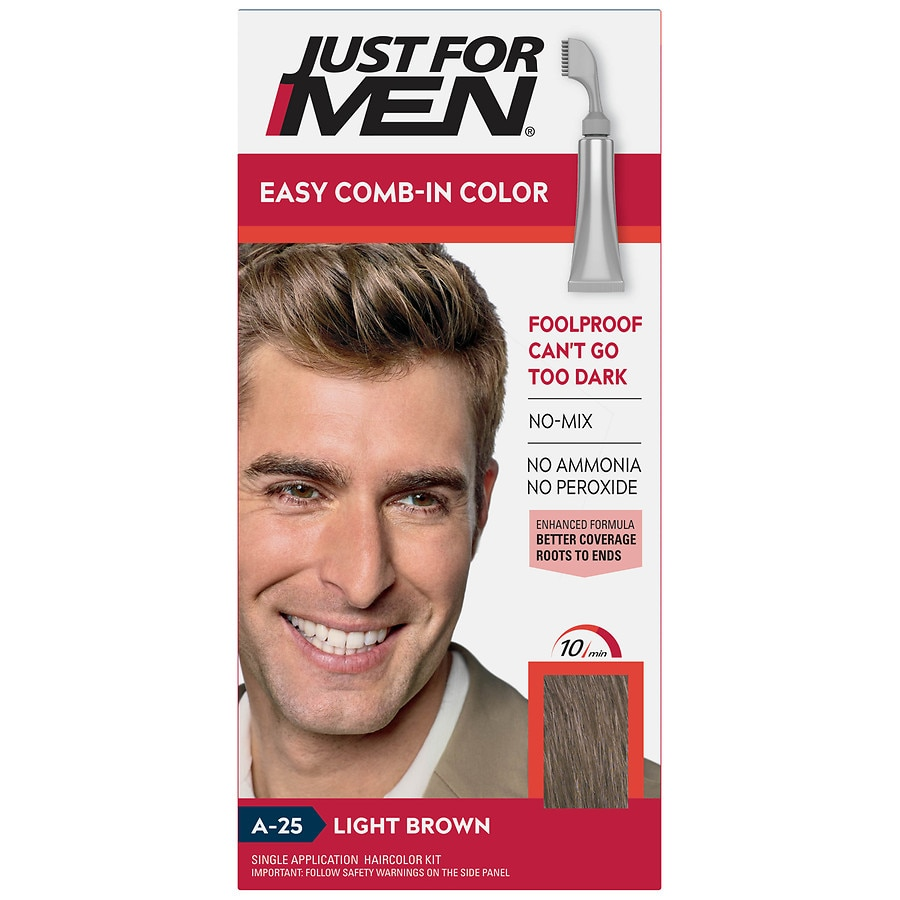 Just For Men Autostop Haircolorlight Brown A 25 Walgreens