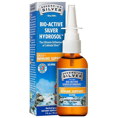 Image of Sovereign Silver Bio-Active Silver Hydrosol - 10 ppm - Nasal Spray - 2 fl oz