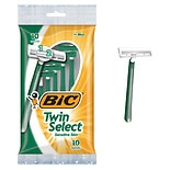 BIC Twin Select Sensitive Skin Disposable Shavers for Men