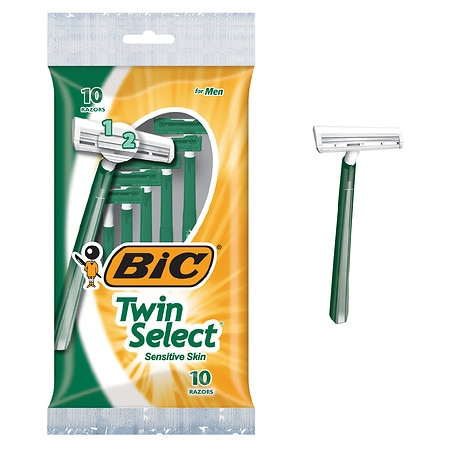 BIC Twin Select Sensitive Skin Disposable Shavers for Men - 10 ea