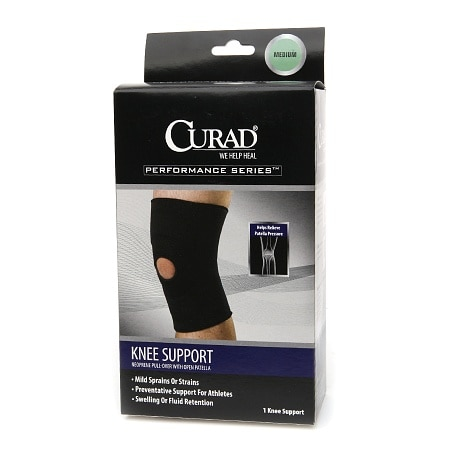 Curad Performance Series Neoprene Pull-Over Knee Support with Open Patella - 1 ea