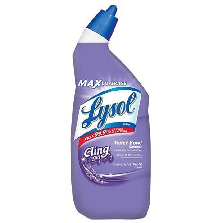 Image of Lysol Cling Gel Toilet Bowl Cleaner Lavender - 24 oz.