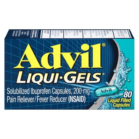 Advil Liqui-Gels Ibuprofen Pain Reliever/ Fever Reducer Capsules, 200mg - 20 ea