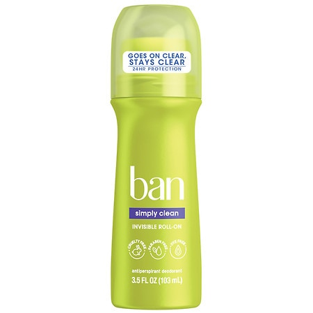 Ban Simply Clean Roll-On Antiperspirant & Deodorant