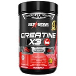 Six Star Elite Series Creatine X3 Dietary Supplement Powder Fruit Punch