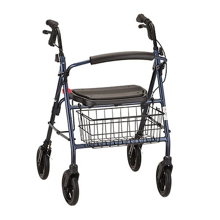 Nova Mack Heavy Duty Rolling Walker Blue
