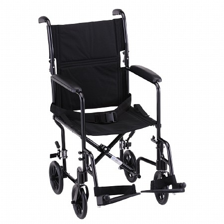Nova Steel Transport Chair 319BK 19 inch - 1 ea